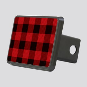 Red Plaid Rectangular Hitch Cover