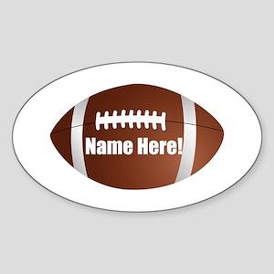 Personalized Football Sticker