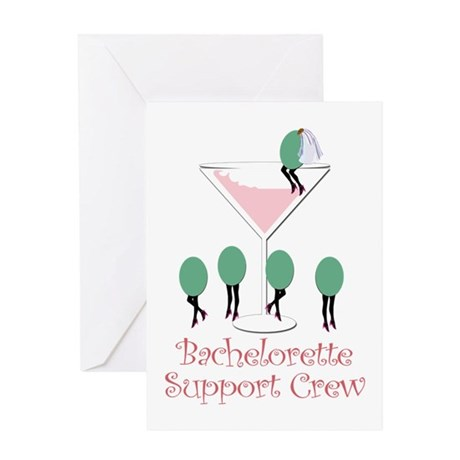 Bachelorette Support Crew (pi Greeting Card