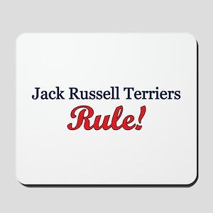 """Jack Russells Rule!"" Mousepad"
