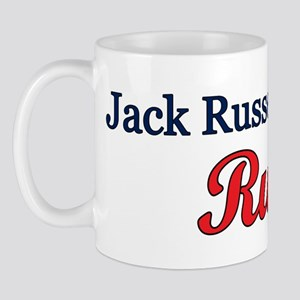 """""""Jack Russells Rule!"""" Mug"""
