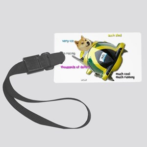 Doge funded Jamaican Bobsled Tea Large Luggage Tag