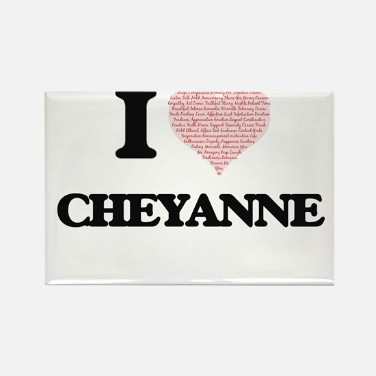I love Cheyanne (heart made from words) de Magnets