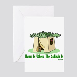 Sukkot greeting cards cafepress home is where the sukkah is greeting card m4hsunfo