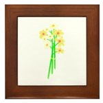 Little Daisy Bouquet Framed Tile