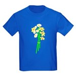 Little Daisy Bouquet Kids Dark T-Shirt