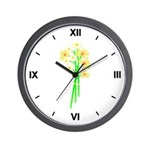Little Daisy Bouquet Wall Clock