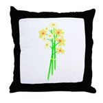Little Daisy Bouquet Throw Pillow