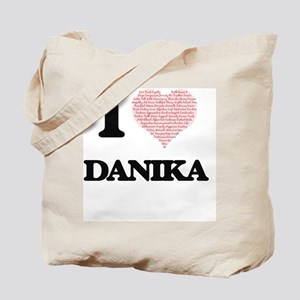 I love Danika (heart made from words) des Tote Bag