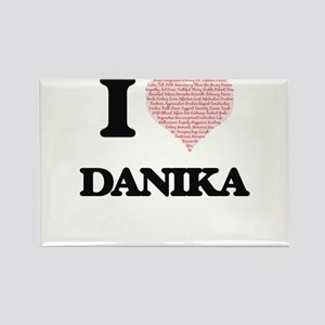 I love Danika (heart made from words) desi Magnets