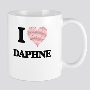 I love Daphne (heart made from words) design Mugs