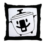The Happy Rice Cooker Throw Pillow