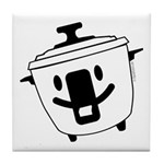 The Happy Rice Cooker Tile Coaster