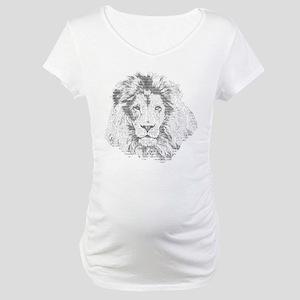 Text Lion Maternity T-Shirt