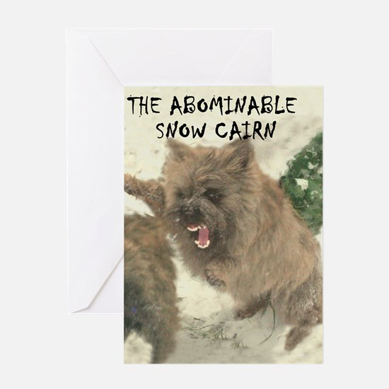 Abomidable SnowCairn Greeting Card