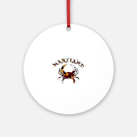 Maryland Flag Crab Round Ornament