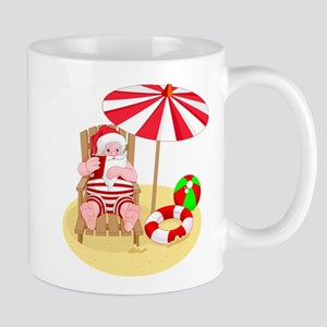 beach santa claus Mugs