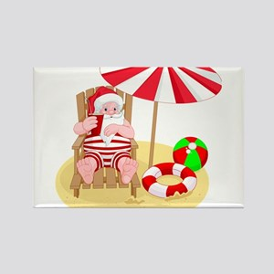 beach santa claus Magnets