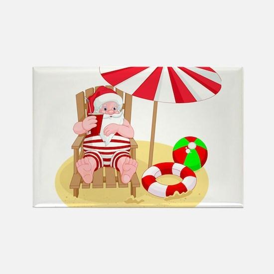 beach santa claus Magnets