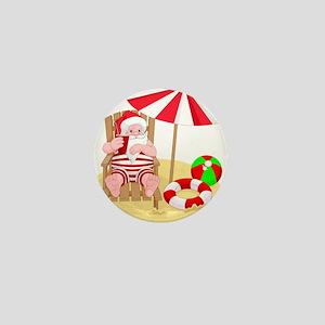 beach santa claus Mini Button