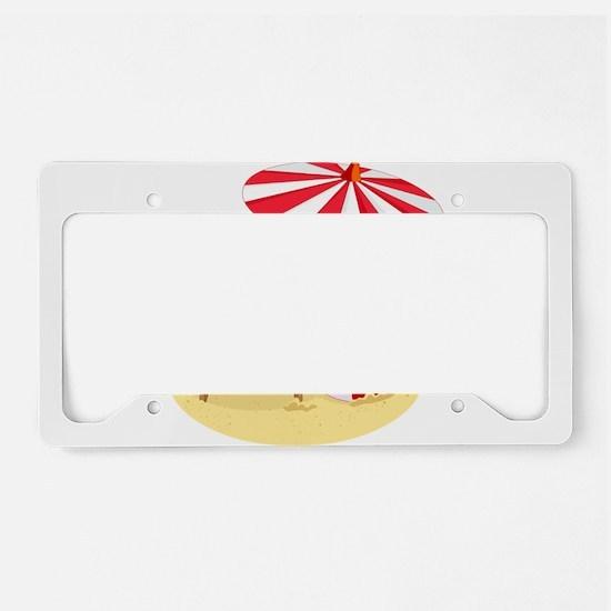 beach santa claus License Plate Holder