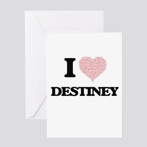 I love Destiney (heart made from wo Greeting Cards