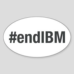 #endibm Oval Sticker