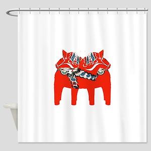 Swedish Dala Horse Gifts and Apparel Shower Curtai