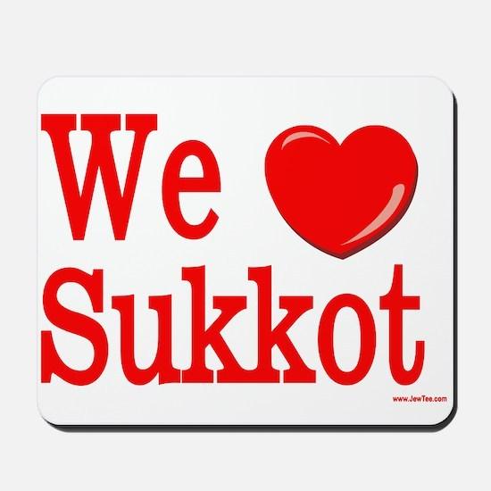 We Love Sukkot Mousepad