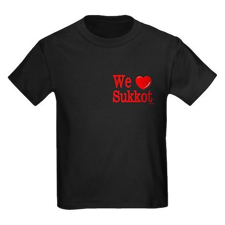 We Love Sukkot Kids Dark T-Shirt