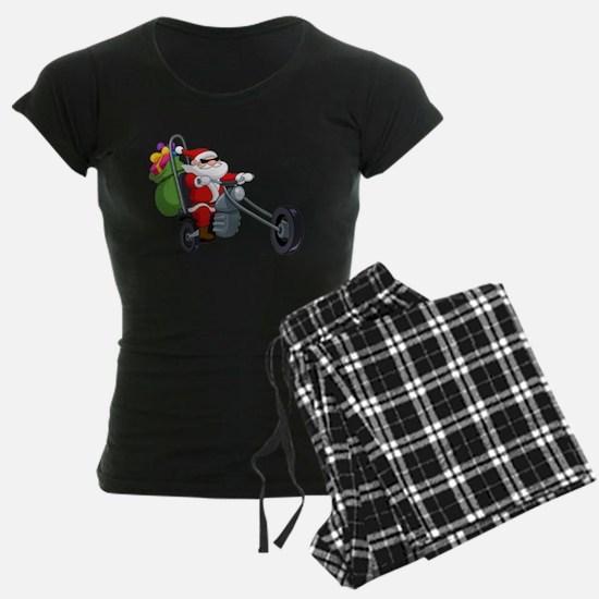 biker badass santa claus Pajamas