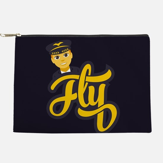 Emoji Pilot Fly Makeup Bag
