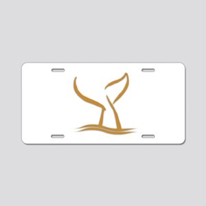 Whale Tale Aluminum License Plate