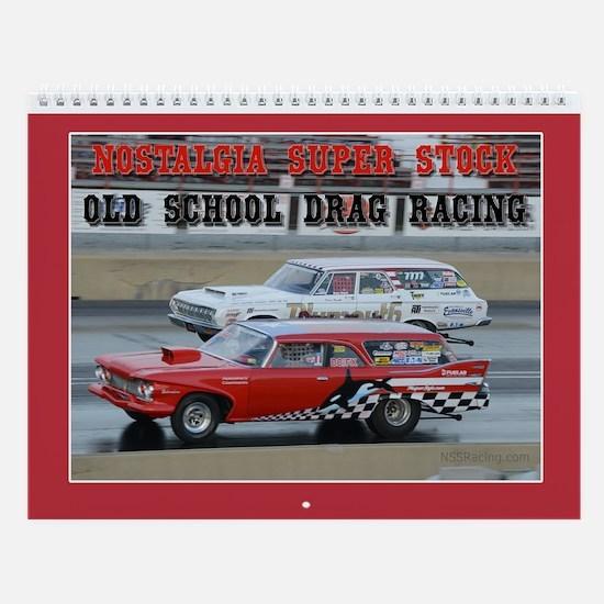 Cute Drag racing Wall Calendar