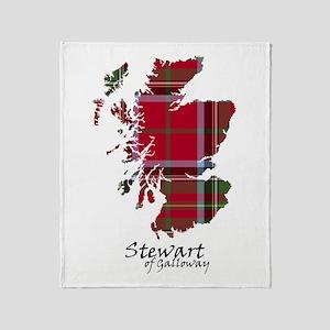 Map-StewartGalloway Throw Blanket