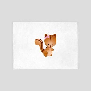 Cute Chipmunk 5'x7'Area Rug