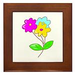 Cute Bouquet Framed Tile