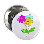 """Cute Bouquet 2.25"""" Button"""