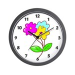Cute Bouquet Wall Clock