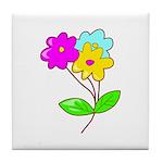 Cute Bouquet Tile Coaster