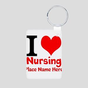 I Love Nursing Keychains