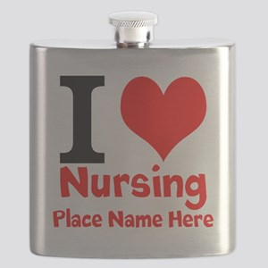 I Love Nursing Flask