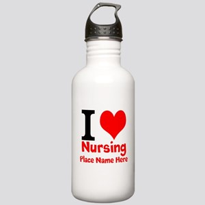 I Love Nursing Water Bottle