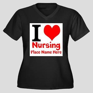 I Love Nursing Plus Size T-Shirt
