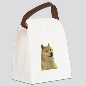 DogeCoin Doge Staring Canvas Lunch Bag