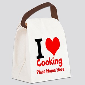 I Love Cooking Canvas Lunch Bag