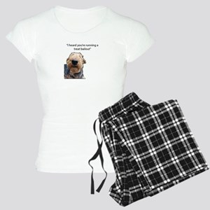 Airedale Terrier Hoping for Women's Light Pajamas