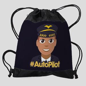 Emoji Pilot Hashtag Drawstring Bag