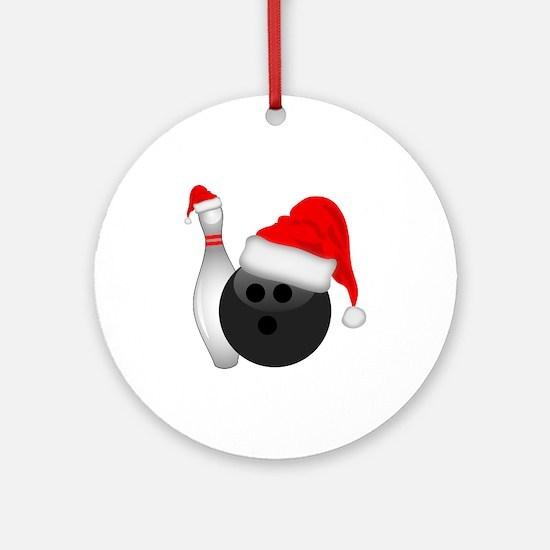 Christmas Bowling Round Ornament