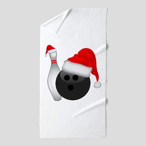 Christmas Bowling Beach Towel
